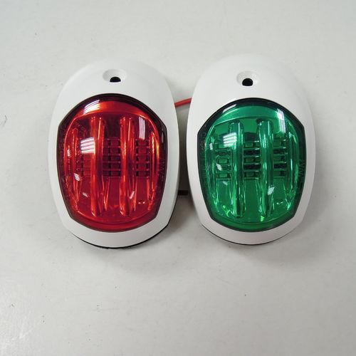 boat navigation light / LED / white / stainless steel