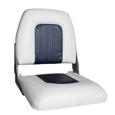 helm seat / for bass boats / folding backrest / 1-person