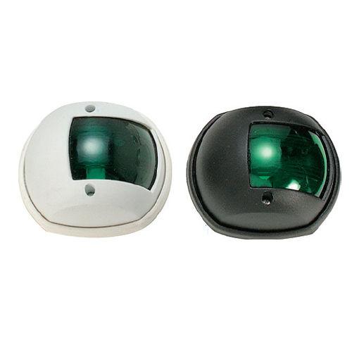 boat navigation light / incandescent / green / stern
