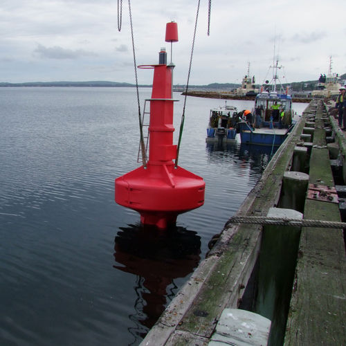 beacon buoy / high seas / with signal light / stainless steel