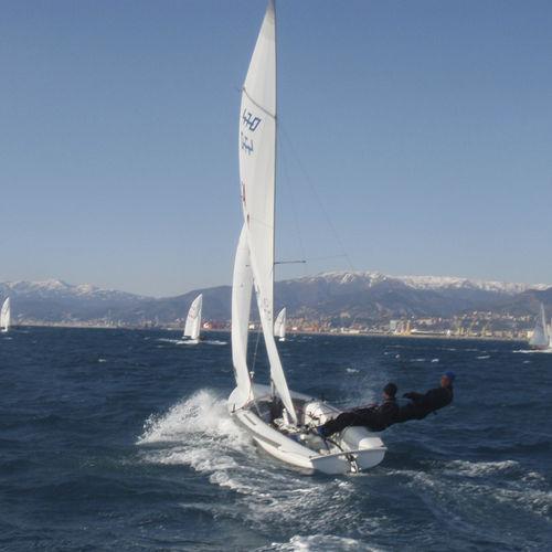 mainsail / for sailing dinghies / 470 / radial cut
