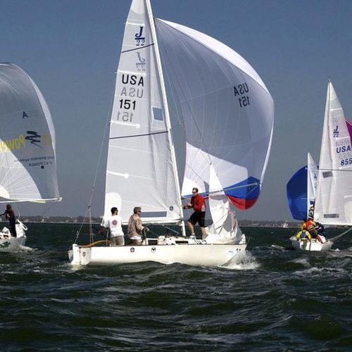 jib / for one-design sport keelboats / J22 / cross-cut