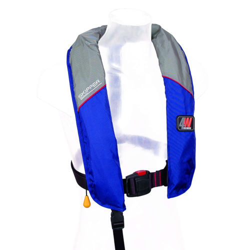 self-inflating life jacket / 150 N / with safety harness