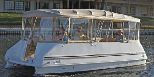 electric pontoon boat / 10-person max.