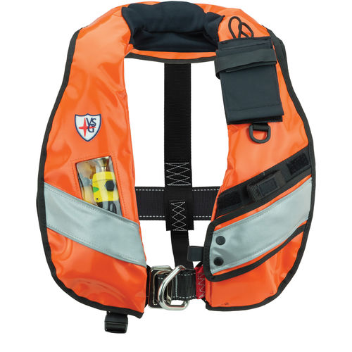 self-inflating life jacket / 150 N / with safety harness / professional