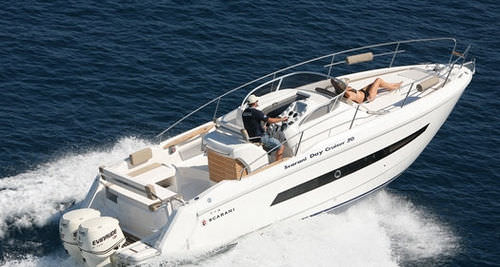 outboard walkaround / twin-engine / 8-person max. / sundeck
