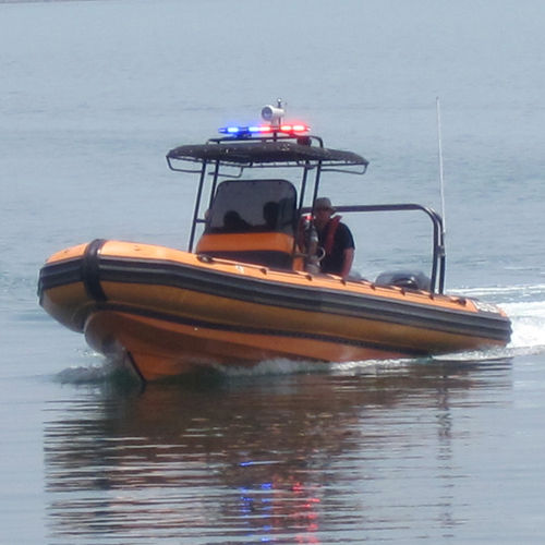 outboard inflatable boat / RHIB / center console / for extreme conditions