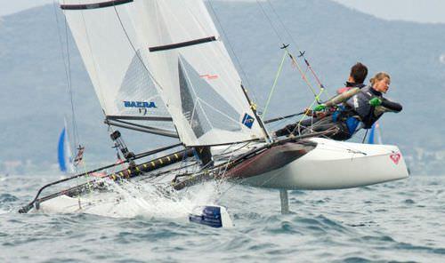 regatta sport catamaran / double-handed / double-trapeze / asymmetric spinnaker