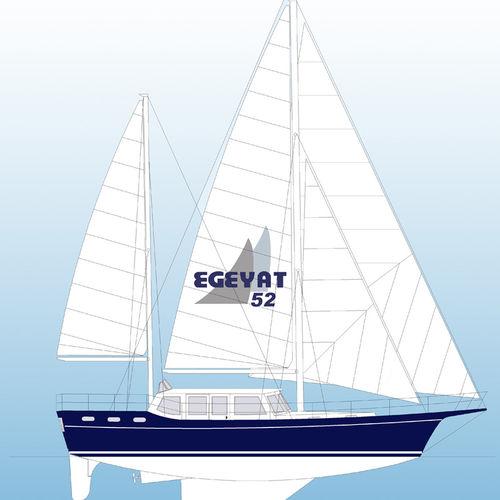 cruising sailing yacht / deck saloon / 8-berth / ketch