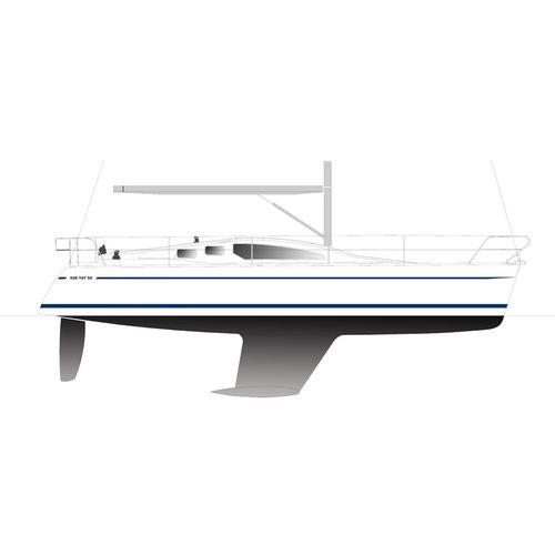 cruising sailing yacht / open transom