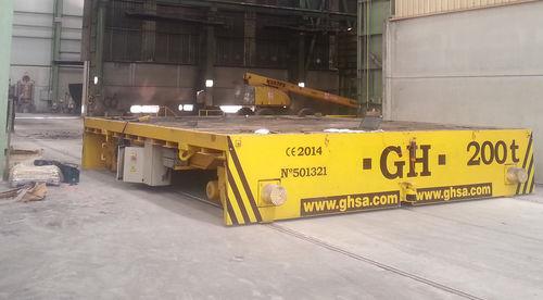 handling trailer / shipyard / self-propelled / electric
