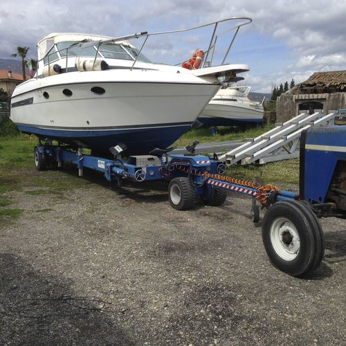 road trailer / handling / for boats / shipyard