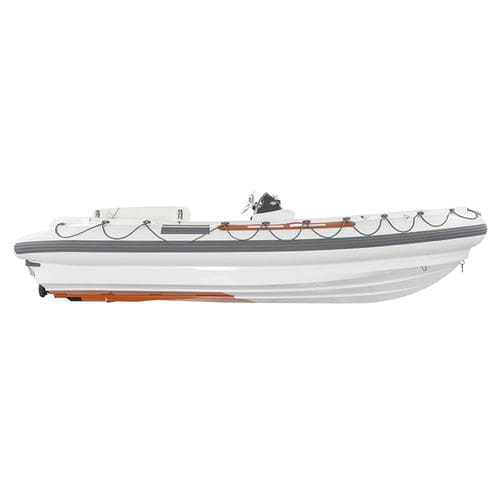 rescue boat professional boat / inboard waterjet / diesel / rigid hull inflatable boat
