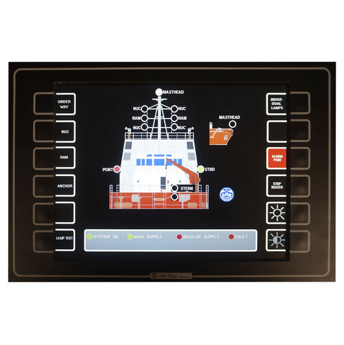 marine monitoring and control panel / navigation light / touch screen