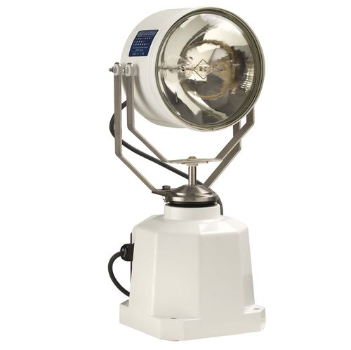 search floodlight / for ships / sealed beam / remote-controlled