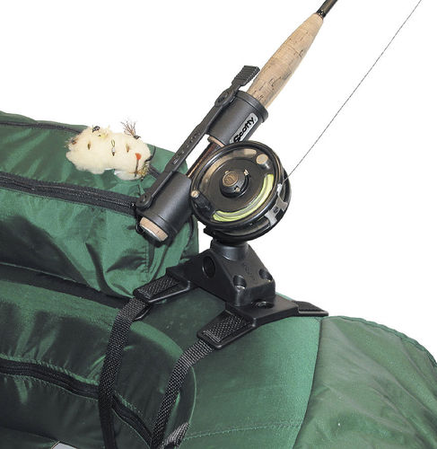 boat rod holder / fly fishing