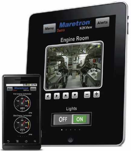 monitoring and alarm system software / for boats / for smartphones