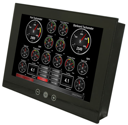 yacht display / for ships / control / touch screen