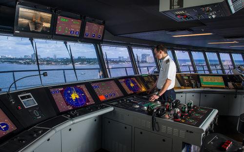 ship display / multi-function / digital / radar