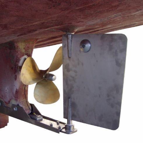 motor boat rudder blade