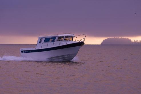 outboard walkaround / cruising-fishing / 6-berth