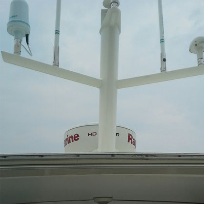 radar antenna mount / Satcom / composite / custom
