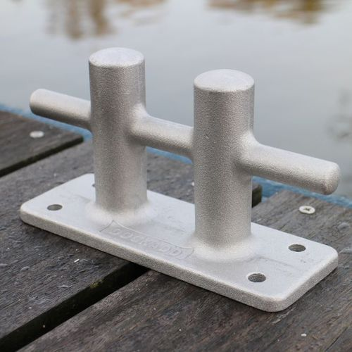 dock mooring bitt / for boats / double / aluminum