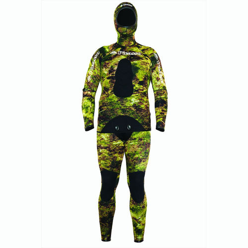 spearfishing wetsuit / two-piece / hooded / 3 mm