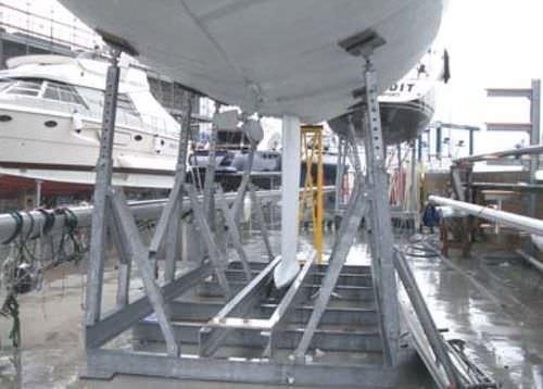 sailboat cradle / mobile / galvanized steel