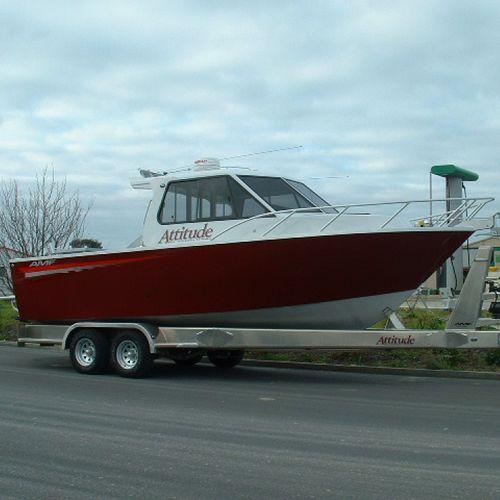 work boat / inboard waterjet / diesel / aluminum