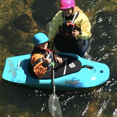 rigid kayak / white-water / solo / child's
