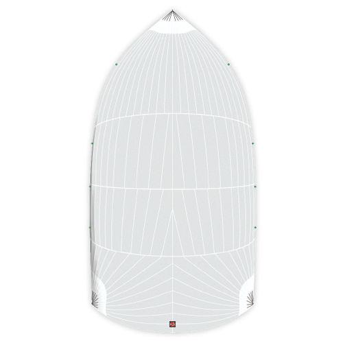 symmetric spinnaker / for racing sailboats / tri-radial cut