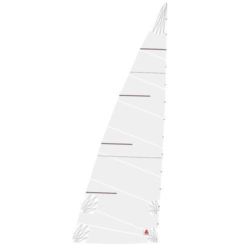 mainsail / for cruising sailboats / cross-cut / polyester