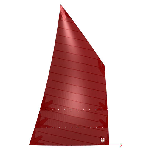 mainsail / for cruising sailboats / cross-cut / polyester