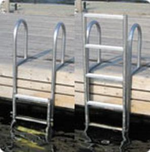 dock ladder / retractable / swim / manual