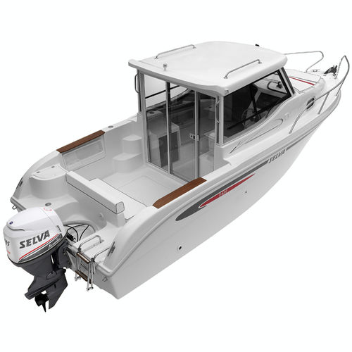 outboard day fishing boat / hard-top / 7-person max. / with cabin