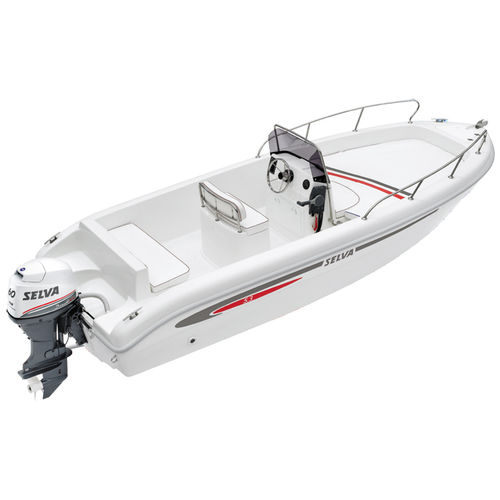 outboard center console boat / center console / open / 6-person max.