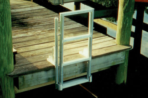 dock ladder / folding / boarding / manual