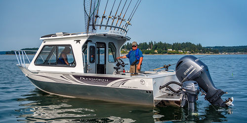 inboard cabin cruiser / hard-top / sport-fishing / 8-person max.