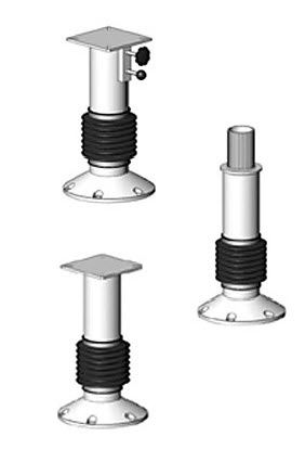 ship helm seat pedestal / with shock absorber / stainless steel