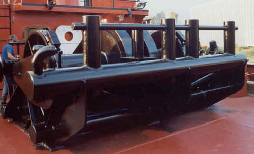 tugboat winch / towing / diesel engine / double-drum