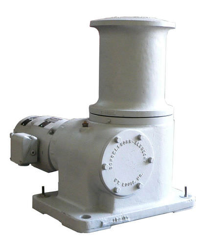 ship capstan / hydraulic / stainless steel base