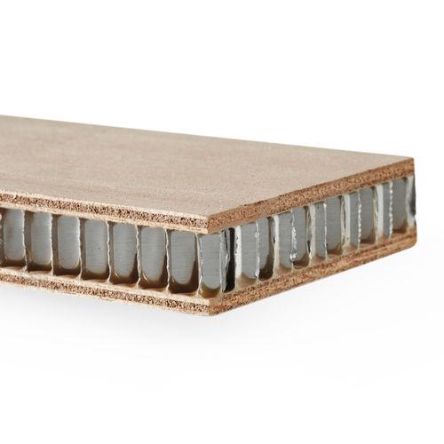 decorative sandwich panel / aluminum honeycomb / okoumé