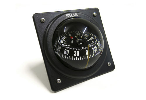 sailboat steering compass / magnetic / vertical / built-in