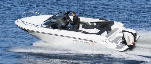 outboard cabin cruiser / open / sport-fishing / 8-person max.