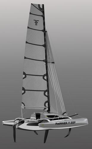 trimaran / racing / open transom / carbon