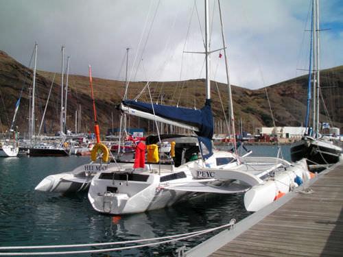 trimaran / ocean cruising / open transom / 1-cabin