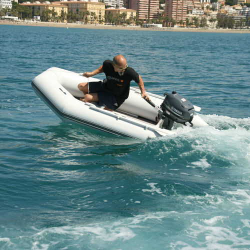 outboard inflatable boat / foldable / inflatable bottom / inflatable keel