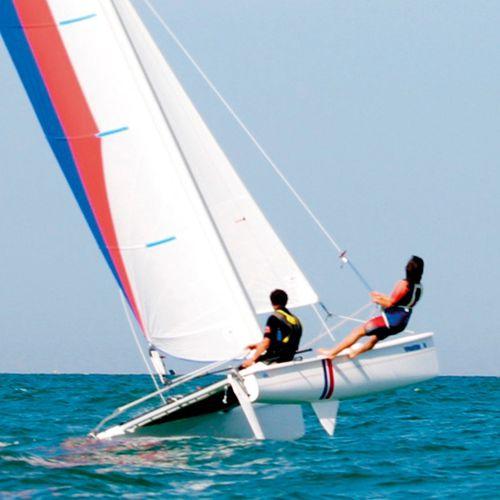 instructional sport catamaran / recreational / double-handed / single-trapeze