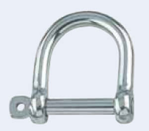 straight shackle for sailboats / with captive pin / stainless steel / forged